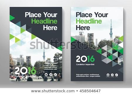 современных зеленый Flyer дизайна листовка ежегодный Сток-фото © SArts