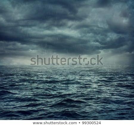 Sötét tenger viharos háttér vihar fekete Stock fotó © Konstanttin