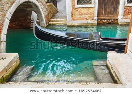 Венеция рассвета пейзаж улице Церкви лодка Сток-фото © benkrut