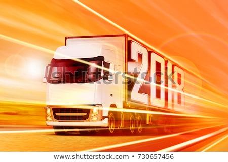 Stock fotó: Teherautó · konténer · űrlap · izolált · autó · doboz