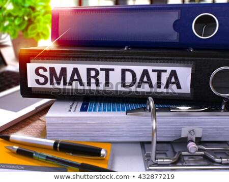 Smart Data on Black Ring Binder. Blurred, Toned Image. Stock photo © tashatuvango