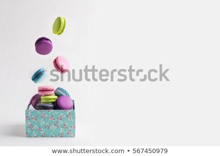 Francia luxus színes macaronok desszert torták Stock fotó © DenisMArt