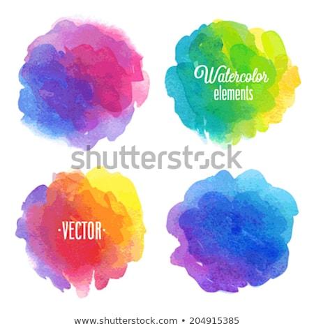 Absztrakt művészi kreatív szivárvány kör terv Stock fotó © pathakdesigner