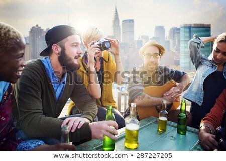 Men talking on urban rooftop Stock photo © IS2