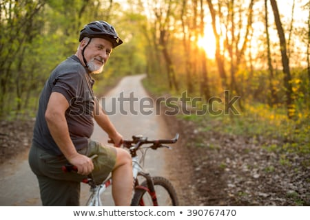 Healthy Senior in a forest Stock photo © FreeProd