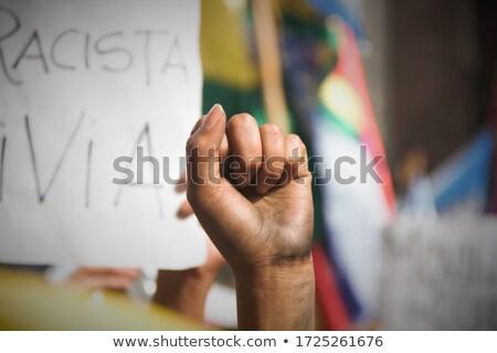 Ring Girl Board Raise Stock photo © lenm