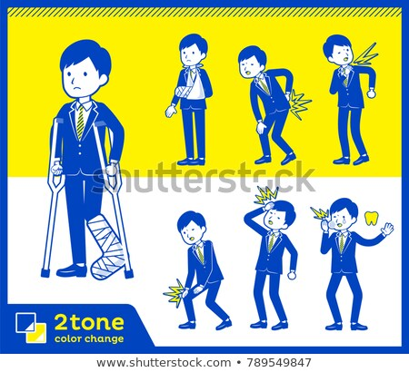 2tone type suit businessman_set 8 Stock photo © toyotoyo