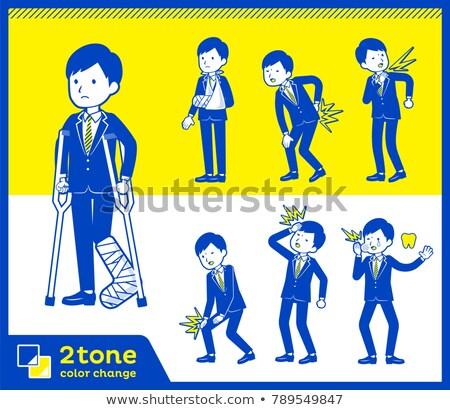 2tone type suit businessman_set 8 Stock photo © toyotoyo