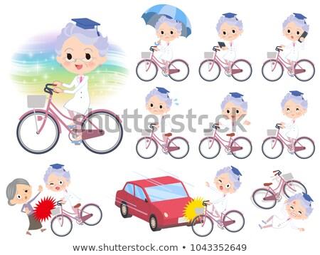 investigación · médico · edad · bicicleta · coche · mujeres - foto stock © toyotoyo