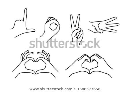 mãos · forma · de · coração · mão · amor · abstrato - foto stock © suriyaphoto