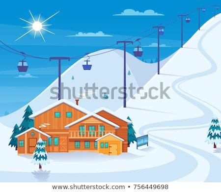 Stok fotoğraf: Dağ · Kayak · yalıtılmış · beyaz · doğa · arka · plan
