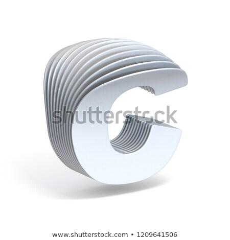 Papír c betű 3D 3d render illusztráció izolált Stock fotó © djmilic