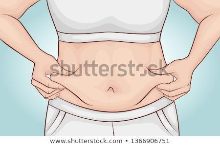 Corpo plástico cirurgiões lápis mulher correção Foto stock © RAStudio