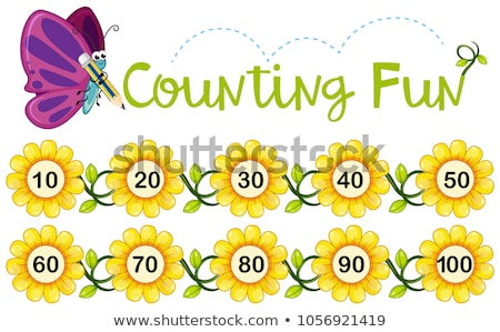 Math count number to ten Stock photo © bluering