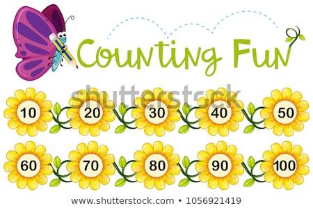 数学 番号 10 実例 空 草 ストックフォト © bluering