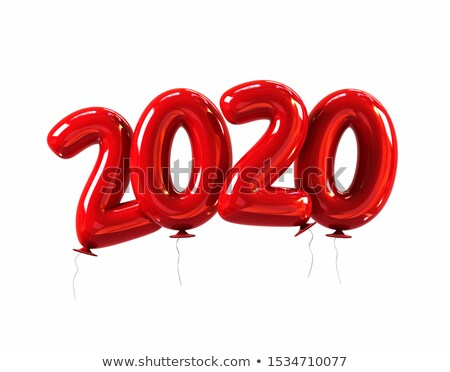 Red balloons shaped in numbers Stock photo © colematt