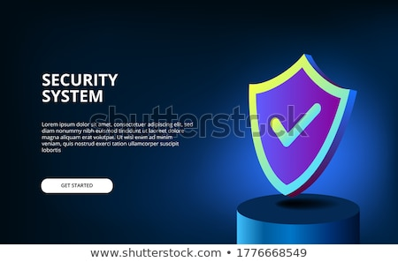 Antivirus software concept landing page. Stock photo © RAStudio