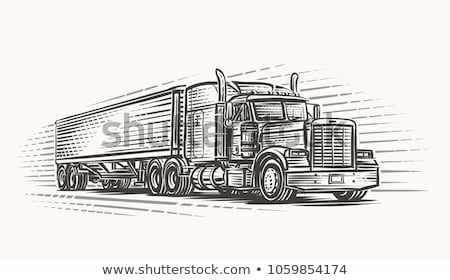 Tractor and Lorry Machinery Vector Illustration Stock photo © robuart