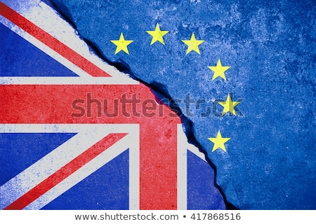 Stock photo: Flags of European Union and United Kingdom. Brexit concept