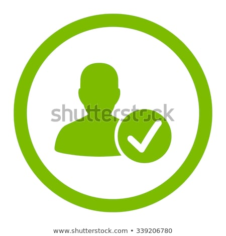 Green check mark icon. Tick symbol in green color, vector illustration. Editable stroke. Stock photo © kyryloff