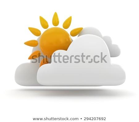 天気 アイコン 太陽 雲 3D 3dのレンダリング ストックフォト © djmilic