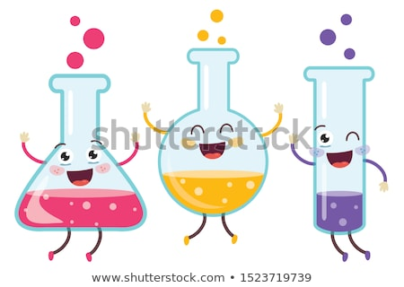 kids with test tube studying chemistry at school stock photo © dolgachov