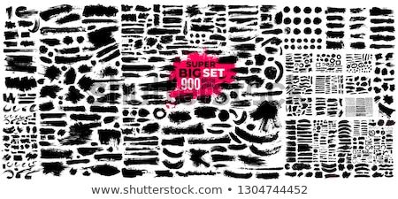 vector set of brush Stock photo © olllikeballoon