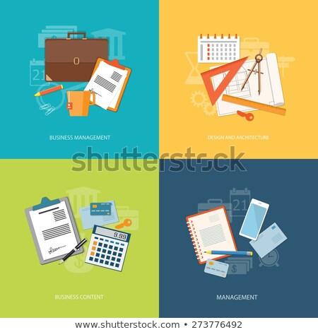 e banking concept   flat design style colorful illustration stock photo © decorwithme