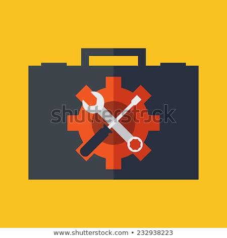 Technische ondersteuning ontwerp stijl kleurrijk illustratie vrouwelijke Stockfoto © Decorwithme