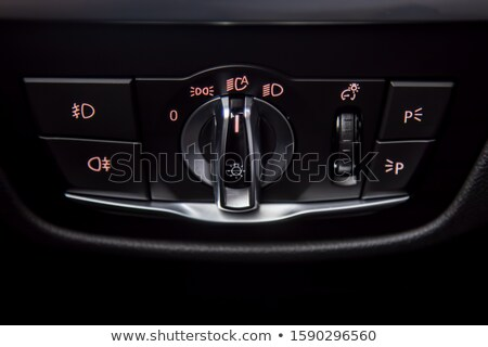 Bright Modern Car Auto Headlight Control Stock photo © solarseven