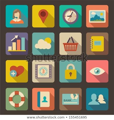 Upload photo vector flat icon Stock photo © smoki
