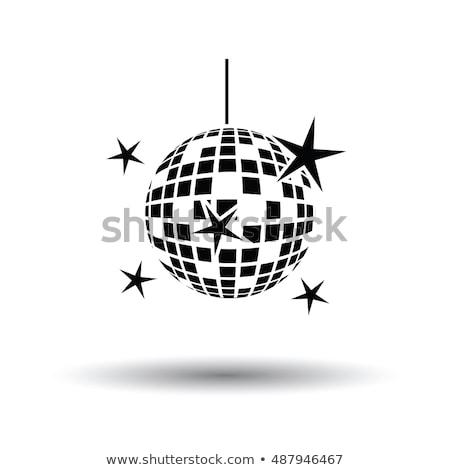 Noc disco sferze ikona kolor projektu Zdjęcia stock © angelp