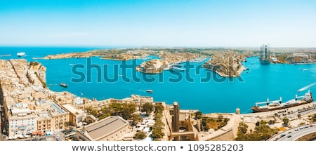 Old beautiful houses in Valetta, Malta Stock photo © boggy