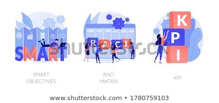 Matrix zakenlieden verantwoordelijkheid grafiek taken Stockfoto © RAStudio