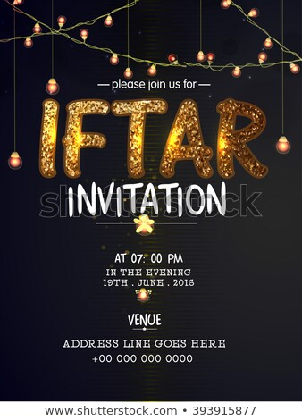 elegant invitation template of iftar party Stock photo © SArts
