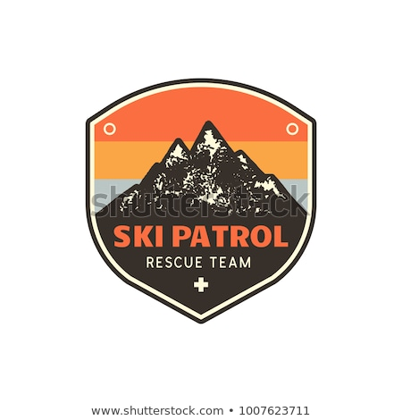Color vintage Ski sport emblem Stock photo © netkov1
