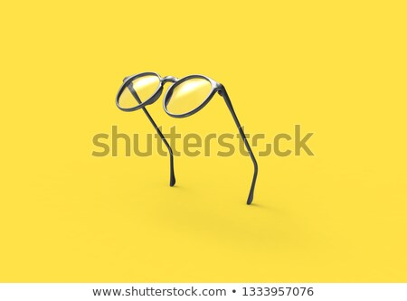 uçan · siyah · gözlük · gölge · sarı - stok fotoğraf © filipw