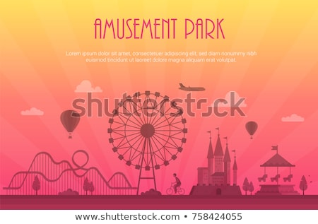 People Going to Amusement Park Illustration Stock photo © artisticco