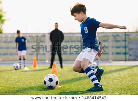 futball · tábor · gyerekek · fiúk · gyakorlat · mező - stock fotó © matimix