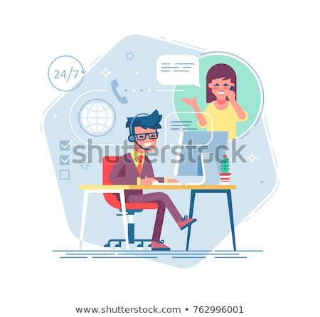 Hot online information concept vector illustration Stock photo © RAStudio