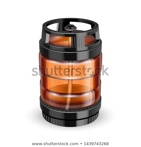 Modern Black And Brown Plastic Keg Barrel Vector Stock photo © pikepicture