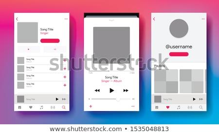 Music player application interface Stock photo © wavebreak_media