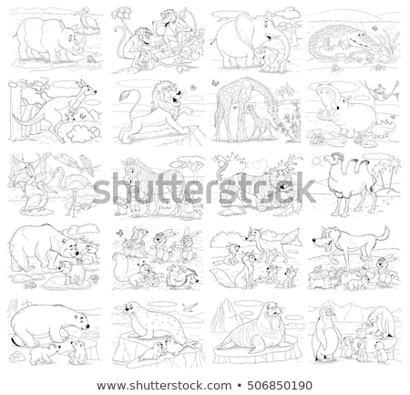 differences color book with crocodiles characters Stock photo © izakowski
