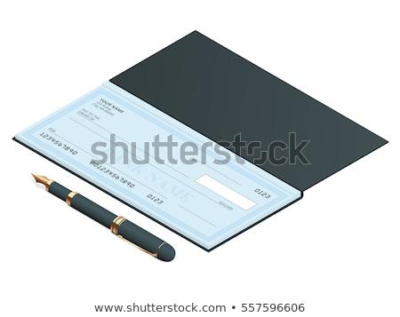 バランス チェック 図書 アカウント 水 鉛筆 ストックフォト © johnkwan