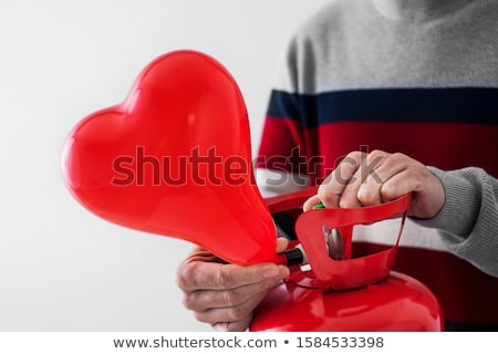 Ballon cilinder kaukasisch man Stockfoto © nito