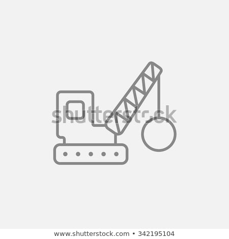Kabel icon vector schets illustratie teken Stockfoto © pikepicture