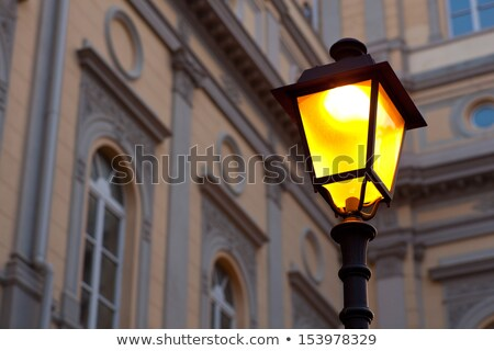 Decorative street lamp in Trieste, Italy Stock photo © boggy