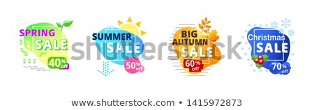 Autumn Sale and Discount Card with Ribbon Vector Stock photo © robuart