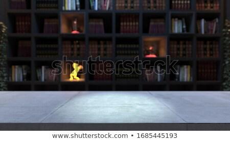 пусто конкретные столе книжная полка библиотека Сток-фото © sedatseven