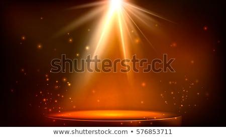 Etapie miejscu oświetlenie magic świetle pomarańczowy Zdjęcia stock © olehsvetiukha